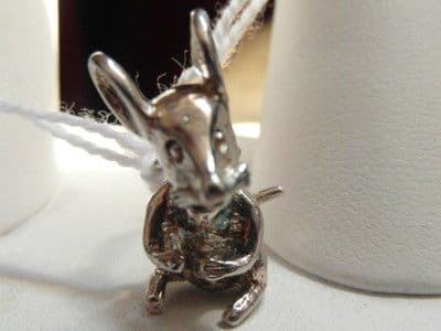 291E LADIES STERLING SILVER MOVING MOUSE CHARM