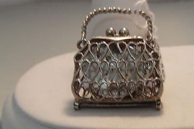 79F VINTAGE LADIES/CHILDRENS STERLING SILVER HANDBAG CHARM