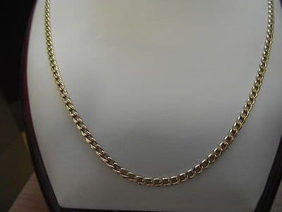 804E VINTAGE LADEIS/GENTS 18CT GOLD 24 INCH CURB CHAIN