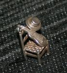 F58 SOLID SILVER DINING CHAIR WITH GUITAR & HAT CHARM / PENDANT