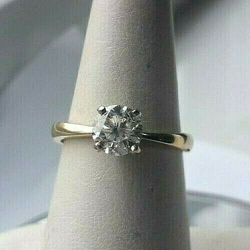 Q239  New 18ct gold 1.00ct E / VS2 solitaire natural untreated diamond ring