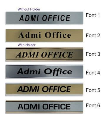 Admi Office  Door Nameplate | slide in or fixed room sign
