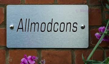 Allmodcons  -Funny House Name Sign Plaque- Ideal housewarming gift