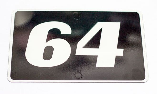 Any Number and or letters |  House  Plaque | Black and white Custom door sign