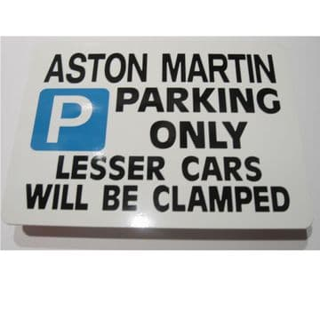 Aston Martin Sign | Gift for Aston Martin Owners Parking