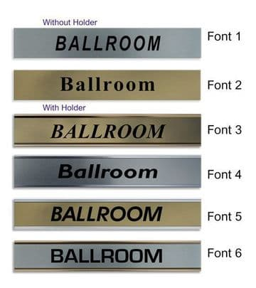 Ballroom  Door Nameplate | slide in or fixed room sign