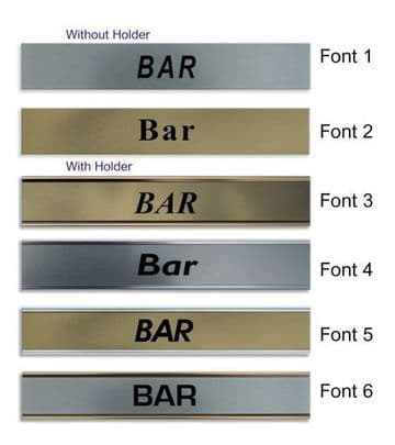 Bar  Door Nameplate | slide in or fixed room sign