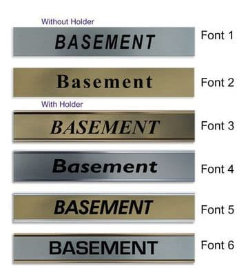 Basement  Door Nameplate | slide in or fixed room sign