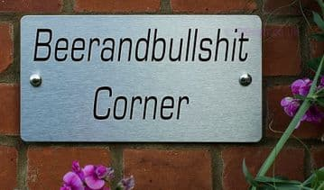 Beerandbullshit Corne -Funny House Name Sign Plaque- Ideal housewarming gift