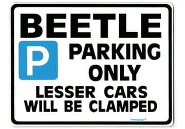 BEETLE Large Sign for vw volkswagon 1303 convertable