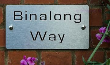 Binalong Way  -Funny House Name Sign Plaque- Ideal housewarming gift