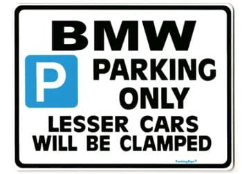 BMW LargeParkingSign for 3 5 7 series m3 z3 z4  361 523