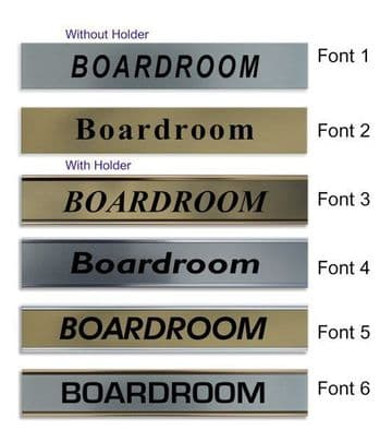 Boardroom  Door Nameplate | slide in or fixed room sign