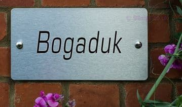 Bogaduk  -Funny House Name Sign Plaque- Ideal housewarming gift