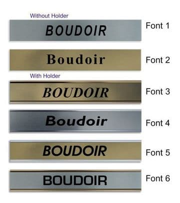 Boudoir  Door Nameplate | slide in or fixed room sign
