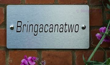 Bringacanatwo  -Funny House Name Sign Plaque- Ideal housewarming gift