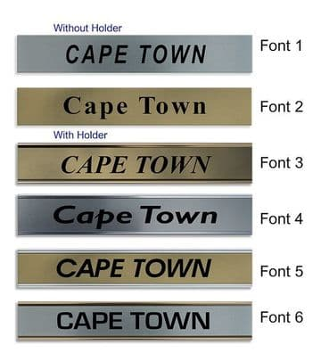 Cape Town Clock Name Plate |World Time Zone City Wall clocks Sign custom Plaque