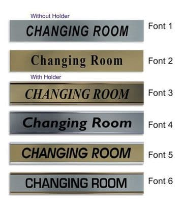 Changing Room  Door Nameplate | slide in or fixed room sign