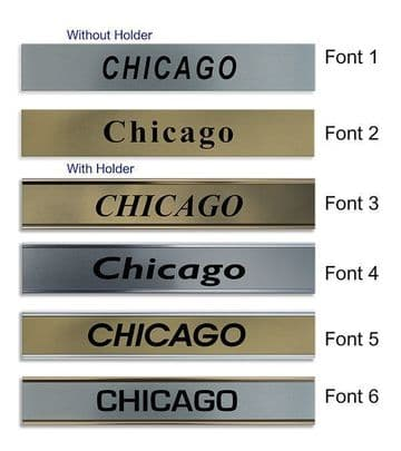 Chicago Clock Name Plate |World Time Zone City Wall clocks Sign custom Plaque