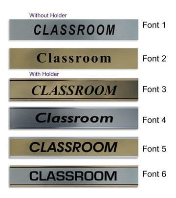 Classroom  Door Nameplate | slide in or fixed room sign
