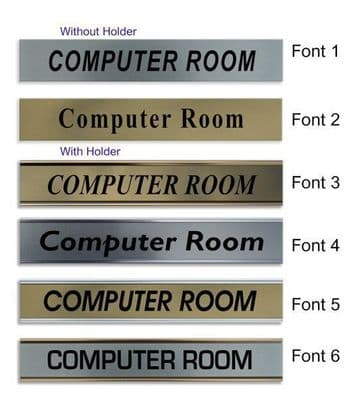 Computer Room  Door Nameplate | slide in or fixed room sign