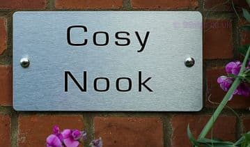 Cosy Nook  -Funny House Name Sign Plaque- Ideal housewarming gift
