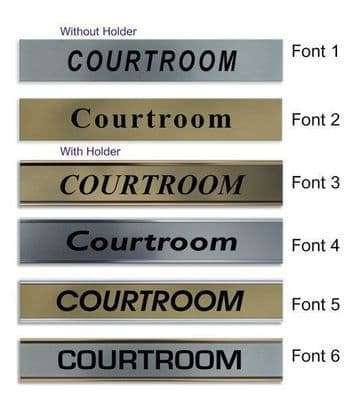 Courtroom  Door Nameplate | slide in or fixed room sign