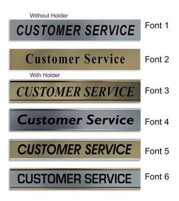 Customer Service  Door Nameplate | slide in or fixed room sign