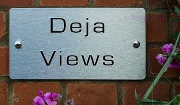 Deja Views  -Funny House Name Sign Plaque- Ideal housewarming gift