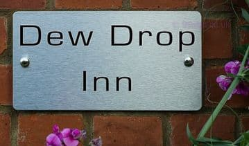 Dew Drop Inn  -Funny House Name Sign Plaque- Ideal housewarming gift