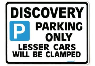 DISCOVERY Large Metal Sign for LAND ROVER tdi gift