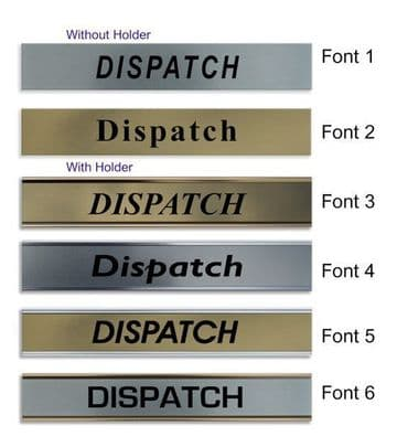 Dispatch  Door Nameplate | slide in or fixed room sign