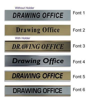 Drawing Office  Door Nameplate | slide in or fixed room sign