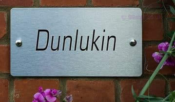 Dunlukin  -Funny House Name Sign Plaque- Ideal housewarming gift