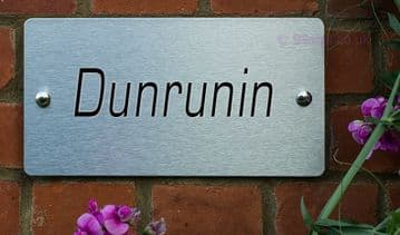 Dunrunin  -Funny House Name Sign Plaque- Ideal housewarming gift