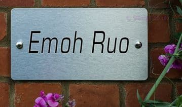 Emoh Ruo  -Funny House Name Sign Plaque- Ideal housewarming gift