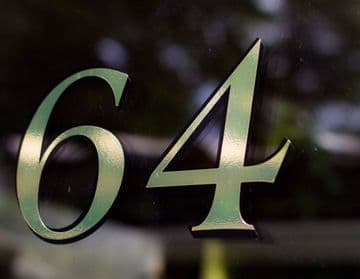 Fanlight / Transom Window House Number - Period Gold leaf style Any Number / Letter Custom door sign
