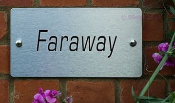 Faraway  -Funny House Name Sign Plaque- Ideal housewarming gift