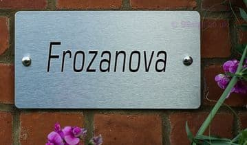Frozanova  -Funny House Name Sign Plaque- Ideal housewarming gift