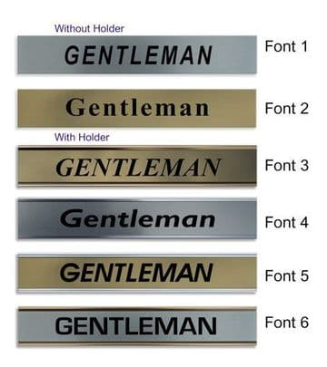 Gentleman  Door Nameplate | slide in or fixed room sign