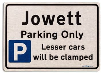 Gift for Jowett car owner | New Parking only Sign | Metal face Brushed Aluminium