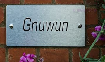 Gnuwun  -Funny House Name Sign Plaque- Ideal housewarming gift