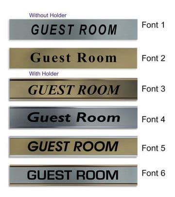 Guest Room  Door Nameplate | slide in or fixed room sign