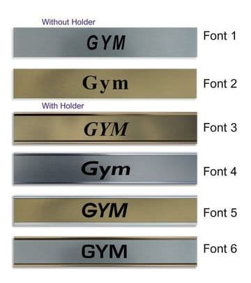 Gym  Door Nameplate | slide in or fixed room sign