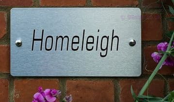 Homeleigh  -Funny House Name Sign Plaque- Ideal housewarming gift