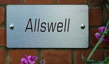 House Name plaque Made to order | Brushed Aluminium | Free UK Shipping