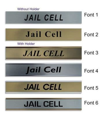 Jail Cell  Door Nameplate | slide in or fixed room sign