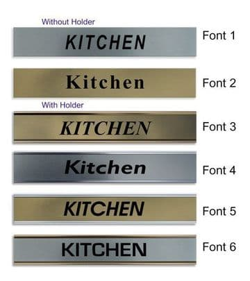 Kitchen  Door Nameplate | slide in or fixed room sign