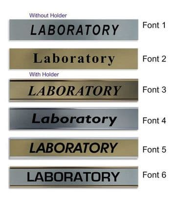 Laboratory  Door Nameplate | slide in or fixed room sign