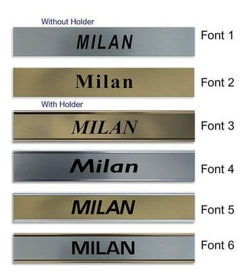 Milan Clock Name Plate |World Time Zone City Wall clocks Sign custom Plaque